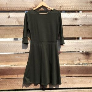 Toad & Co Fit & Flare Olive Green Dress